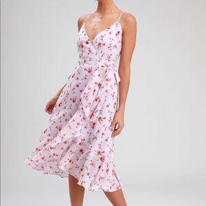 Lulu's Doreen Lavender Mini Dress